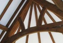 Oak roof trusses / Roof trusses - large, small, traditional and unusual.  All made using traditional joinery.