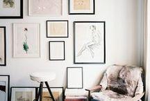 GALLERY WALLS / Inspiration for art gallery walls.