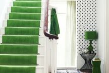 COLOR / Pops of color in inspiring interiors and home decor.