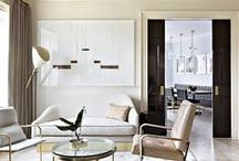 CLEAN LINES / Simple, clean lines in interior design and decorating inspiration.
