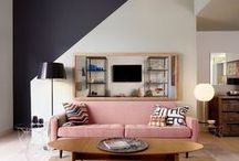 PAINT COLORS / Love dark statement walls in interior design. Here is our collection of our favorite dark walls.