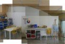 Treballs fets a classe / Treballs realitzats pels alumnes de les classes de dibuix i pintura