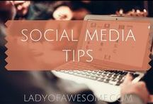 SOCIAL • MEDIA / Social media, Facebook tips, Twitter tips, Instagram tips, Pinterest tips, Tips for bloggers on social media, how to grow social media
