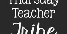 """Thursday Teacher Tribe / A collaboration of teacher created resources for public, private, and home schools. Add no more than 3 pins per day. Each Thursday, come to the board and repin a few items from fellow tribe members. If you'd like to join this board, send me a message through TpT's """"Ask a Question"""". Tell me your email address associated with your Pinterest account or give me a link to your Pinterest page."""