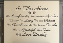 Home And Family Wall Art Quotes / My Home And Family Wall Art Quotes Can Be Applied To Any Room In Your Home.