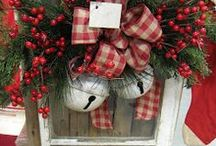 Christmas / Ideas for Christmas with a country or primitive look.... love it!