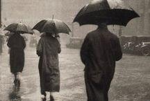 In the rain (B&W)
