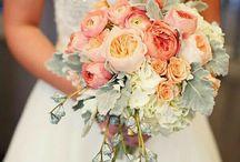 Calming corals / Coral wedding ideas