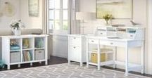 Bush Furniture: Broadview Collection / Thoughtful design and quality construction with long lasting appeal.  Broadview's Desk and Storage essentials mix fashion with function, a great addition to any home or office.
