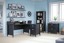kathy ireland® Office by Bush Furniture: Connecticut Collection / The Connecticut Collection has transitional elegance with a contemporary simplicity that adapts to your individual style. A broad appeal for home interiors and small offices for today's professional.