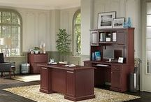 kathy ireland® Office by Bush Business Furniture: Bennington Collection / The Bennington Collection represents classic design with old-world charm.  Decorative detailing and antique accents let you experience a sense of refined elegance, tradition and timeless beauty brought into your home or workspace.