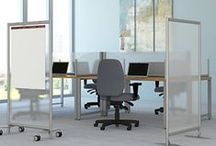 Bush Business Furniture: Privacy Screens/ Pro-Panels / Privacy Screens make it easy to address visual distractions and enhance productivity. ProPanels divide and organize work areas while still allowing discussion, collaboration and flexible layout options.