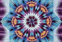 Judy Niemeyer Quilts / Quilts made using Judy Neimeyer Quiltworx patterns.  The color choices are awesome! / by Beth Liotta