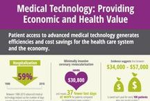 Medical Infographics / A board filled with interesting medical device and industry infographics.