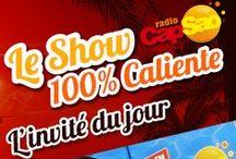 """Le Show 100% Caliente / Photos des invités du jour de l'émission """"Le Show 100% Caliente"""" animé par Théo sur radio CapSao.        >>>>>> Radio CapSao, la radio latine ! <<<<<<<<  Lyon 99.3FM - Vienne 99.4FM - Oyonnax 89.9FM - Paris RNT  >>>>>>> wwww.capsao.com <<<<<<<"""