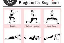 Evening Workouts / Workouts and exercises to do when you come home from work!
