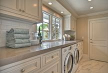 - Laundry room ideas - / If we spend so much  time doing laundry, why do contractors make that room so small?  Dream big.