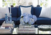 - True blue decor - / I have to admit this is my favorite color. It's fun and elegant at the same time. It goes with many colors or looks perfect alone.