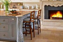 - French Country Home - / Lavender fields, sunny gardens and bright farmhouses mixed with time warn woods, baskets and lovely fabrics. These are all elements of your style.