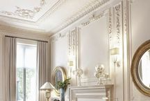 - French: Classical, Château, Provincial. / French chateau is a formal French style. It is known for grayed colors, gilded frames and elegant fabrics. The most outstanding element is it is romantic.