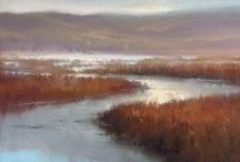 Inspiring Art - Water Elements / Lakes, rivers, waterfalls, marshes, ditches, ponds... / by Sherry Schmidt