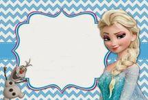 Frozen / Decoración, y proyectos para fiestas infantelas
