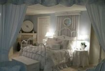 - Not too Shabby - / Shabby Chic.  Lots of soft colors, lace, time worn items, chippy paint, and feminine.