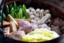"""JAPANESE NABE CULTURE / """" Nabe """" is """" Casserole Dish """". Many ingredients (vegetables, meat, fish, etc.) are put into the casserole and cooked at the table. Served directly from the casserole. Surrounding one pot and party, Japanese use it as a kind of communication tool to become friendly with one another."""
