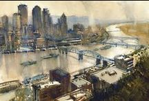 Cityscapes / Downtowns, Street scenes / by Sherry Schmidt