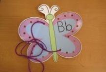 Letter B / Butterfly / Bear / Button / Bubble / Banana