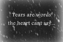 Sorrow / Sorrow, pain, emptyness. When loosing a person close to your heart