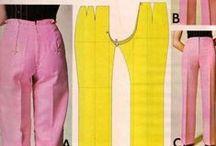 pantaloni / metodi per realizzare modelli-base di pantaloni