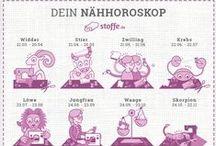 stoffe.de ✂ Horoskope / Wenn du wissen möchtest wie sich dein Sternzeichen auf dein Hobby auswirkt, dann findest du hier unsere Nähhoroskope!