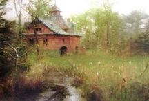 Landscapes with Structures - Oil, Acrylic, Pastel / by Sherry Schmidt