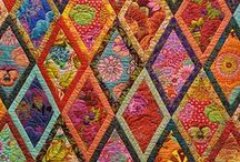 Quilts / In honor of my Mother and my Granny Young....these two loved to hand quilt and their work was amazing!  My mother was an Artist would be in love with bright colors and the new direction quilting has taken.