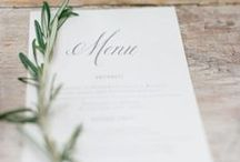 Wedding planning - menu