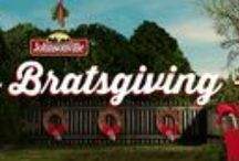 Bratsgiving / Johnsonville is celebrating National Bratwurst Day known to us as Bratsgiving! Help us countdown the days to the best sausage holiday! Be part of the fun . What IS #Bratsgiving? Watch the video below & rejoice in the spiced pork holiday splendor!