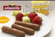 :30 Second Morning Hacks / Powering up with protein as part of a balanced breakfast may seem like another challenge for an already chaotic morning. With these creative morning hacks by parents like you and Johnsonville's new, fully cooked line of breakfast sausage you can take the mayhem out of mornings.