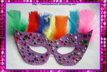⛅ Déguisements et custo ! / Des idées pour customiser les produits et pour fêter Mardi Gras : des masques, des déguisements, des recettes de crêpes visuelles...