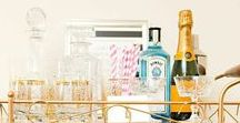 Entertaining / Entertaining ideas, bar carts, alcohol, wine, snacks, food, and decorating ideas!