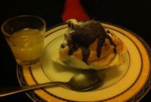 Bignè & home made limoncello / Extra large Bignè filled with fresh cream and melted chocolate .