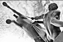Horses on the Anichkov Bridge / Baron Peter Clodt von Jürgensburg  russian sculptor.