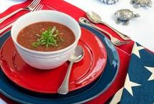 Gazpachomania / Gazpacho is an easy, make ahead addition to any menu - perfect for entertaining.  I love to serve it as an hor d'ouvre, but its the perfect warm weather appetizer.  Sometimes it's the main event!