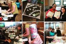 #SJCNYCaps 2016 / Images of the many decorated mortarboards on display before and during St. Joseph's College's 97th Commencement exercises. Images were curated from public social sites using the tag #SJCNYCaps or captured in person around campus and at each ceremony.