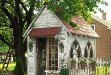 Garden & Outdoor Inspiration / Fences, greenhouses, potting sheds, trellises, garden gates, rustic wooden structures and anything and everything to make your homestead beautiful and inspire practical design.