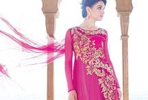 Party Wear Designer Gowns / Steal hearts of milllions by cladding yourself into these designer party wear evening gowns :  http://www.sareesbazaar.com/products.aspx?id=348