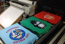 Muestra Julio 2016 / Camisetas estampadas, cojines productos varios