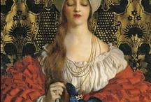 Landsknechts / Women's fashion late Middle Ages