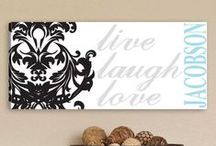 Personalized Wall Art / Make your home extra special with your name personalized on these unique pieces of art.