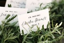 Placecard & Seating Chart Inspiration